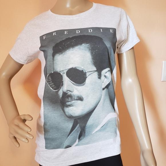 cca2e3e2d Queen Tops | Mr Bad Guy Freddie Mercury Womens T Shirt | Poshmark